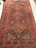 "Antique Hand-knotted 1900's Khamseh Tribal Rug.  4'11""x 8'3""  SOLD"