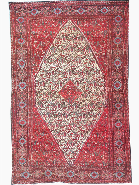 Antique Persian Sarouk Ferahan Rug    4'1