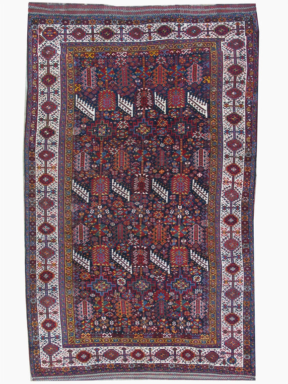Antique Persian Shekarloo Ghashghai Tribal Rug        5'8