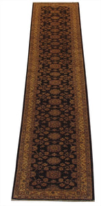 "New Pakistan Hand-woven Antique Reproduction of a 19th Century Persian Tabriz Runner   2'8""x 14'1"""