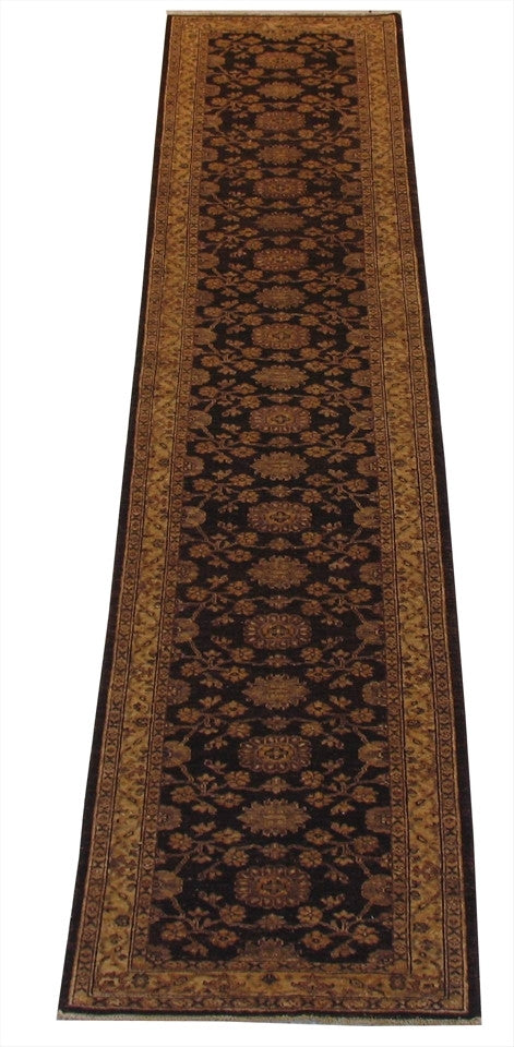 New Pakistan Hand-woven Antique Reproduction of a 19th Century Persian Tabriz Runner   2'8