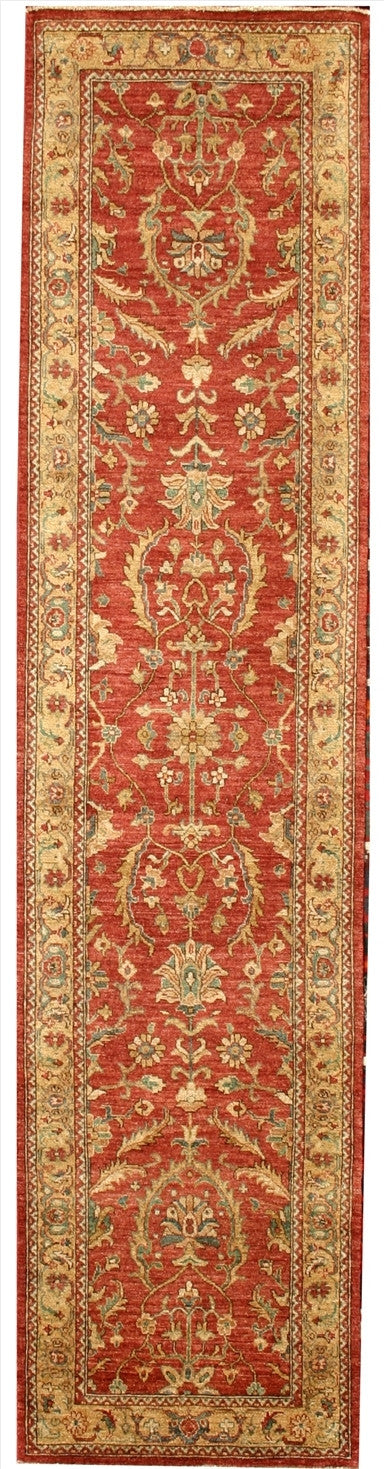 New Pakistan Hand-woven Antique Reproduction of a 19th Century Persian Runner Rug  2'8