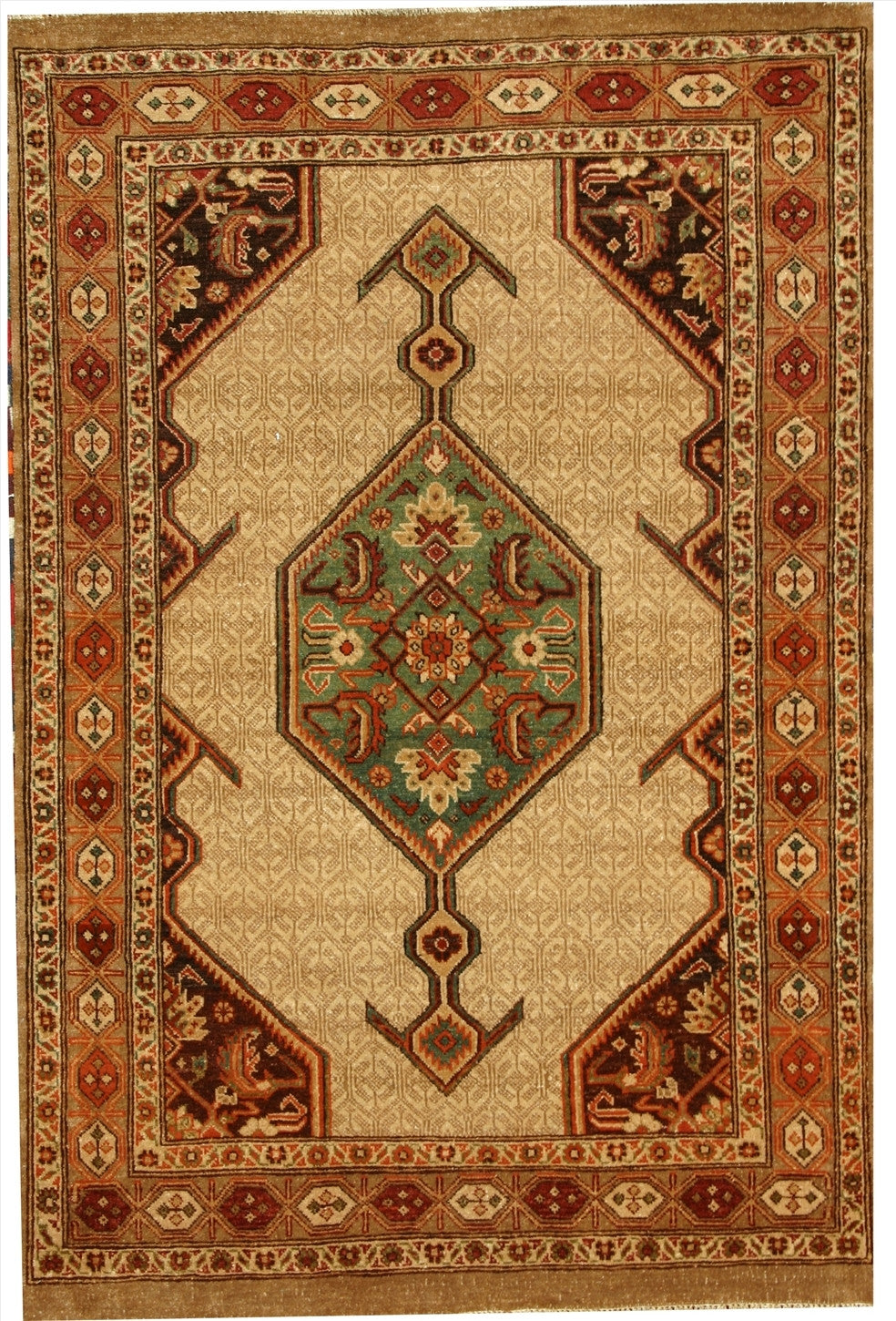 "New Pakistan Hand-woven Antique Reproduction of a 19th Century Persian Serab Rug  3'8""x 5'6"""