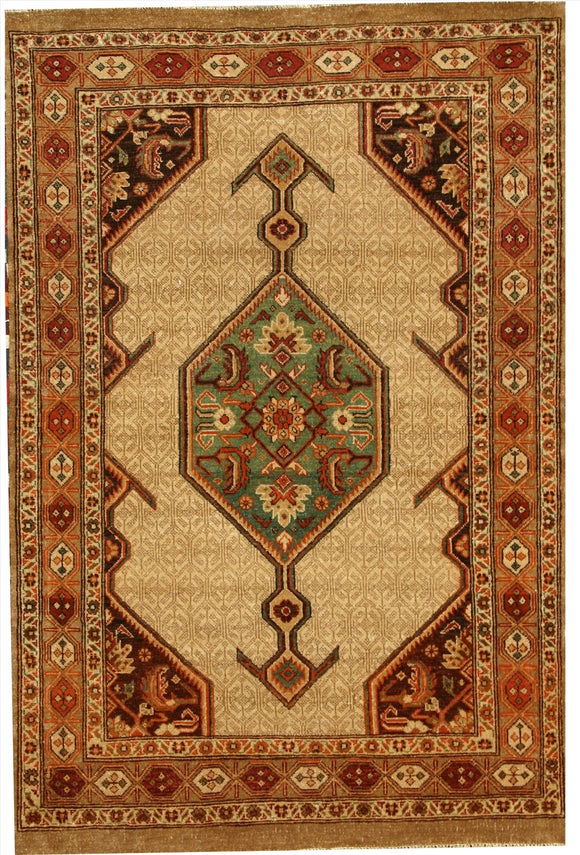 New Pakistan Hand-woven Antique Reproduction of a 19th Century Persian Serab Rug  3'8