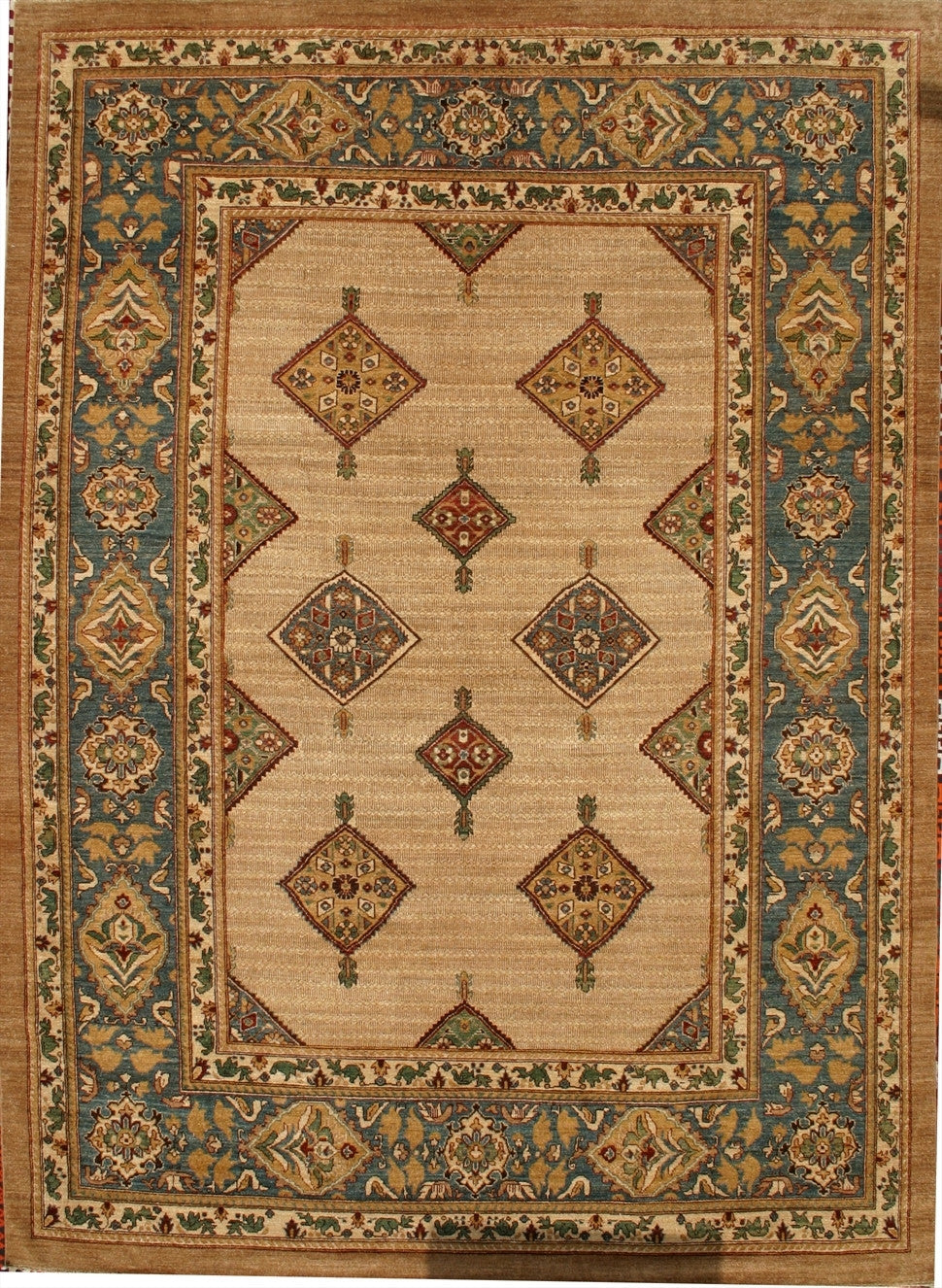 "New Pakistan Hand-woven Antique Reproduction of a 19th Century Persian Serab Carpet  8'9""x 12'   SOLD"