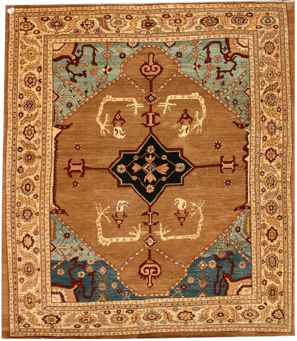 New Pakistan Hand-woven Antique Reproduction Of a 19th Century Persian Bakhshayish Carpet    8'2