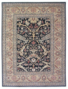 New Pakistan Hand-woven Antique Reproduction of a 19th Century Turkish Oushak Carpet