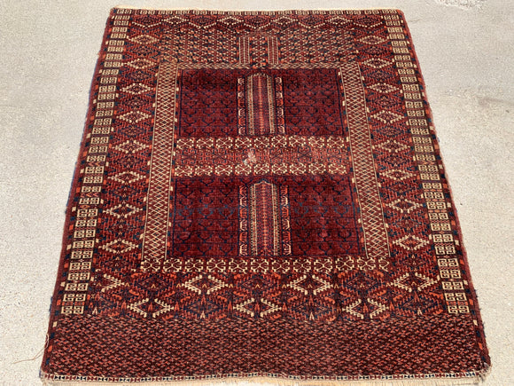 1890's Antique Hand Knotted Tekke Ensi Turkoman Oriental Rug SOLD