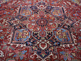 Antique Hand Knotted Persian Heriz Oriental Rug 12'x 15'6""
