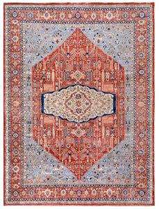 "New Afghanistan Hand Knotted Antique Recreation of 1900's Persian Bidjar Oriental Rug   9'9""x 13'5"""