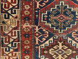 "Late 1800's Caucasian Moghan Oriental Rug. 3'3""x 8'9"". SOLD"