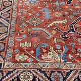 "1920's Antique Persian Gorevan Heriz Oriental Rug 8'6""x 10'9"" SOLD"
