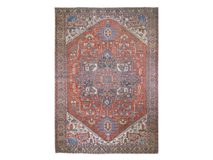 "1890's Antique Persian Hand Knotted Serapi Oriental a Rug. 11'1""x 15'9"""