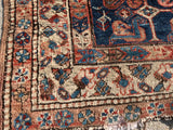 "Antique Persian Heriz Hand Knotted Oriental Rug 4'x 4'6"" SOLD"