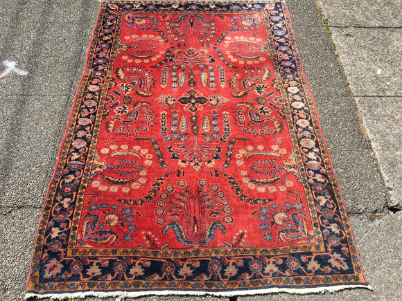 Antique Mohajeran Persian Sarouk   4'2