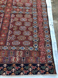 "New Afghanistan Hand Knotted Antique Recreation of 19th Century Turkoman Oriental Rug 5'5""x 7'5"""