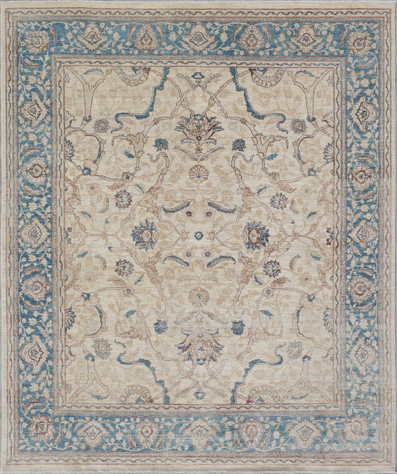 New Pakistan Hand-Knotted Antique Recreation Of An Antique Persian Ferahan   8'x 9'6