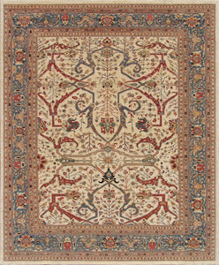 New Pakistan Hand-woven Antique Reproduction of a 19th Century Persian Ferahan Carpet   4'x 6' - 13'x 19'