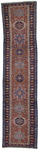 Antique Persian Karajeh Runner Rug               3'x 12'6""