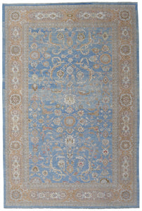 "New Pakistan Hand-woven Antique Reproduction of a 19th Century Persian Sultananbad Carpet   11'7""x 17'10"""