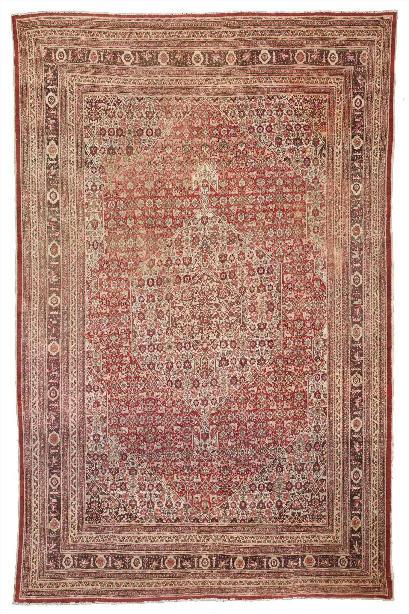 "Antique Persian Tabriz Carpet           9'5""x 12'8"""