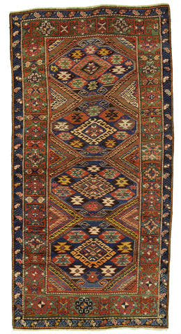 Antique Caucasian Kuba Tribal Rug