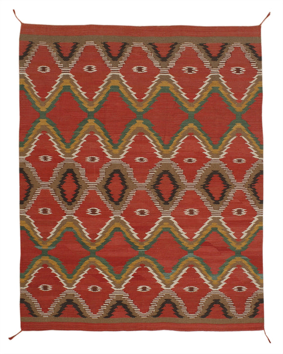 New Hand-woven Antique Recreation of Navajo Rug  8'x 10'