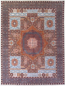 New Pakistan Hand-woven Antique Reproduction of an Egyptian Mamluk Carpet