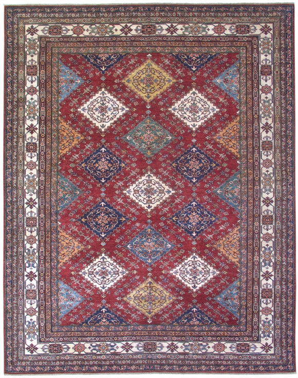 New Pakistan Hand-woven Antique Reproduction of a 19th Century Caucasian Kazak Rug   8'1
