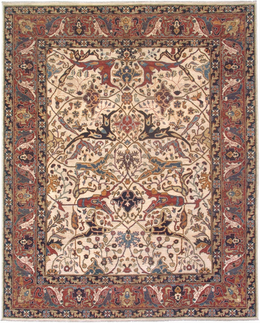 New Pakistan Hand-woven Antique Reproduction of a 19th Century Persian Garrus Bijar Rug  SOLD