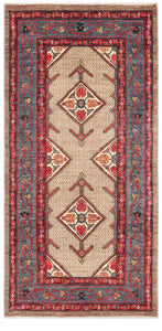 "Afghanistan New Hand-Knotted Antique Recreation of a 19th Century Persian Serab. 3'7""x 7'7"""