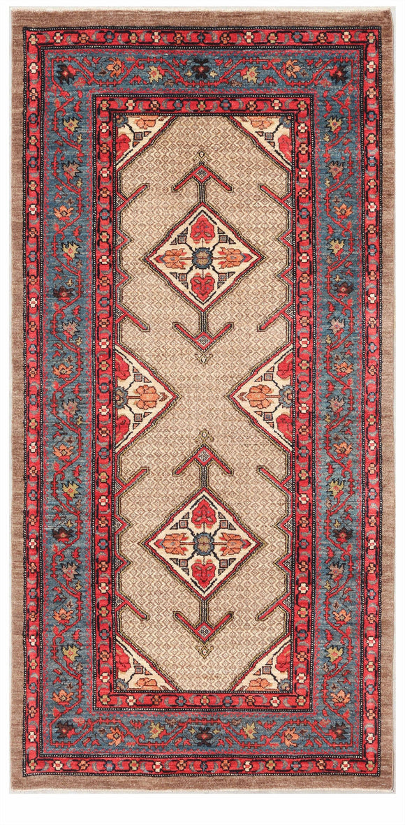 Afghanistan New Hand-Knotted Antique Recreation of a 19th Century Persian Serab. 3'7