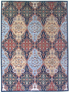 New Pakistan Hand-woven Antique Reproduction of an Ottoman Textile Carpet