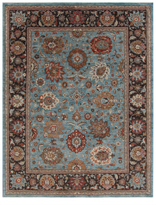 "New Pakistan Hand-Knotted Antique Recreation Of 19th Century Persian Sultanabad  9'3""x 12'"