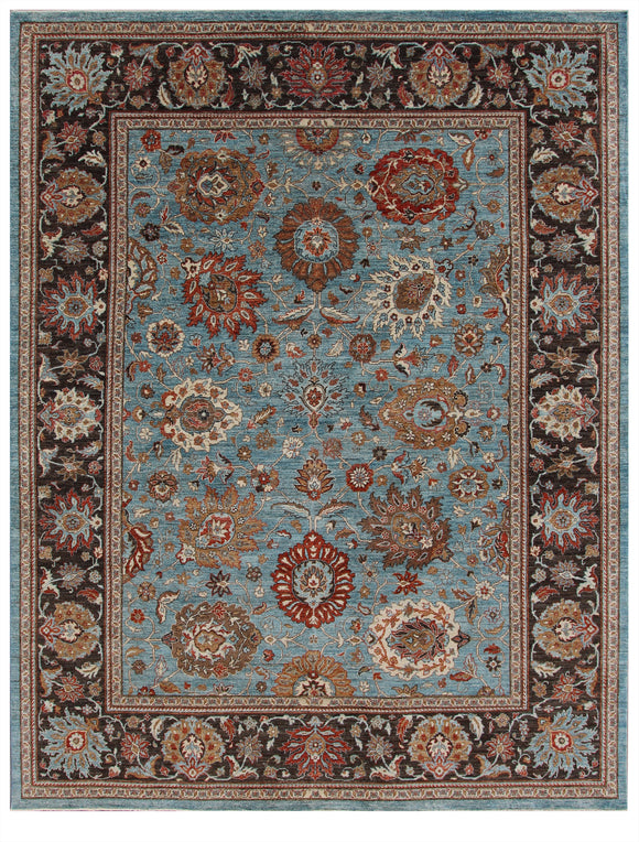 New Pakistan Hand-Knotted Antique Recreation Of 19th Century Persian Sultanabad  9'3
