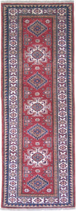 New Pakistan Hand-woven Antique Reproduction of a 19th Century Caucasian Kazak Rug Runner         SOLD