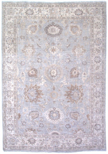"New Pakistan Hand-woven Antique Reproduction of a 19th Century Persian Sultanabad Carpet   8'5""x 12'3"""