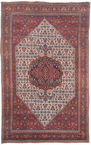 "Antique Persian Bijar Carpet                   7'8""x 12'2"""