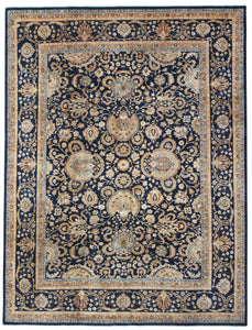 "New Afghanistan Hand-Knotted Antique Recreation Of 19th Century Persian Tabriz   8'8""x 11'3"""