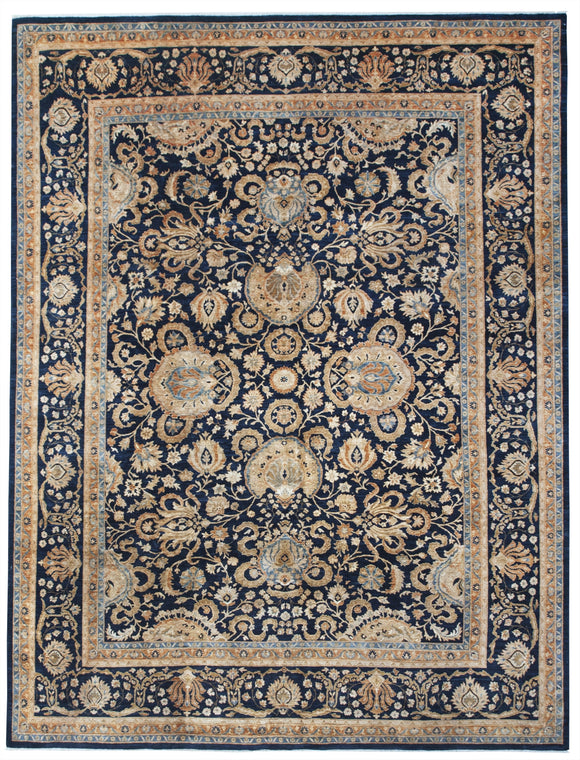 New Afghanistan Hand-Knotted Antique Recreation Of 19th Century Persian Tabriz   8'8