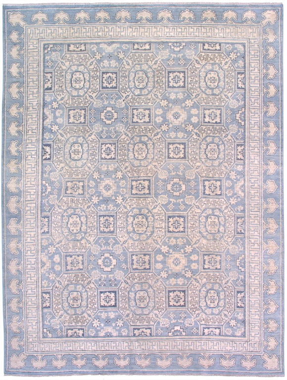 New Pakistan Hand-woven Antique Reproduction of a 19th Century Khotan Design Carpet    8'10