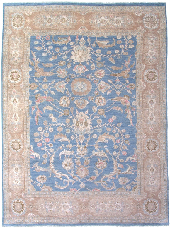New Pakistan Hand-woven Antique Reproduction of a 19th Century Persian Sultanabad Carpet   8'6