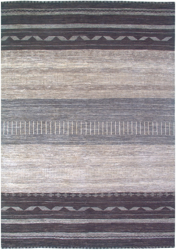 New Pakistan Hand-Knotted Modern Carpet           8'x 11'6