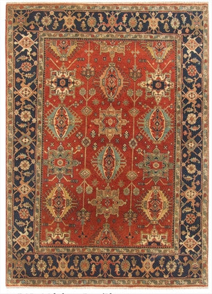 New India Hand-knotted Antique Recreation Of Persian Karajeh            SOLD