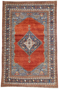"New Pakistan Hand-Knotted Antique Recreation of 19th Century Persian Bijar    9'8""x 14'10"""