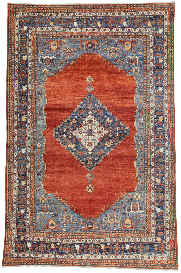 New Pakistan Hand-Knotted Antique Recreation of 19th Century Persian Bijar    9'8