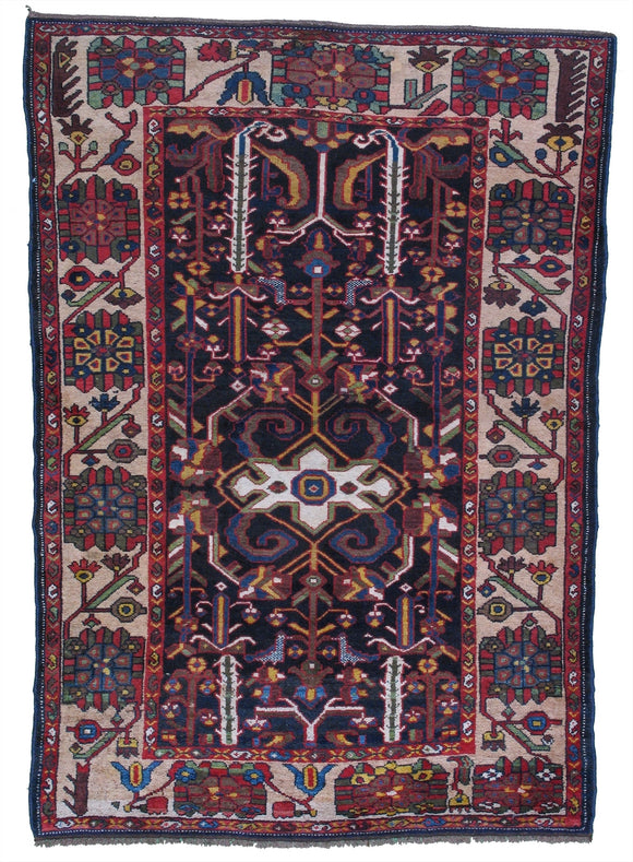 Vintage Wool Foundation Persian Bakhtiari