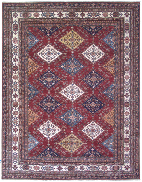 New Pakistan Hand-woven Antique Reproduction of a 19th Century Caucasian Kazak Rug   8'x 10'2