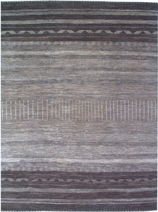 New Pakistan Hand-Knotted Modern Carpet     9'x 12'2""
