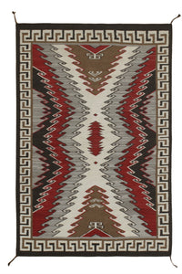 New Hand-woven Antique Reproduction of Navajo Rug   6'x9'